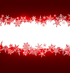 Red christmas background with white copyspace vector