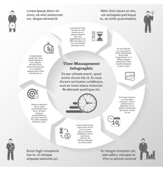 Time management infographics vector