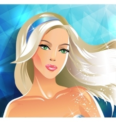 Beautiful bride blonde vector