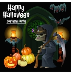 Witch party costumes for happy halloween vector