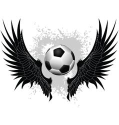 soccer wings vector image