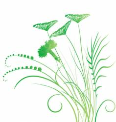 Grassy roots vector