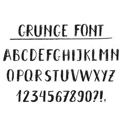 Handwritten alphabet grunge texture vector