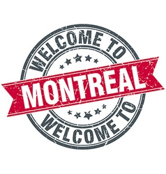 Welcome to montreal red round vintage stamp vector