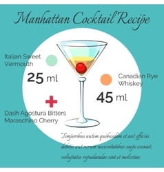 Manhattan receipt poster vector