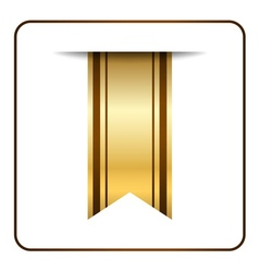 Brown bookmark banner gold vector