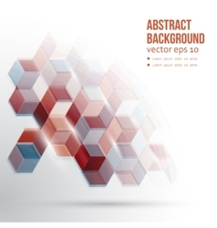 Abstract Design Hexagonal Background vector image vector image