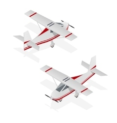 Airplane Mini Isometric View vector image vector image