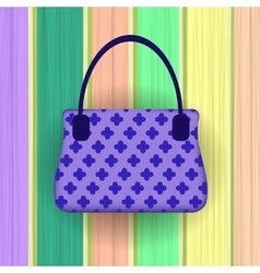 Blue modern womens handbag vector