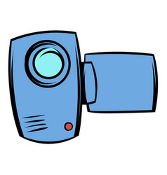 camcorder icon cartoon vector image