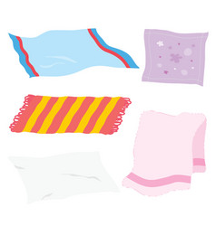 Carpet towel sheet napkin cloth cartoon vector