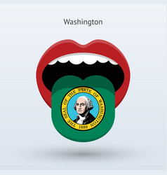 electoral vote of washington abstract mouth vector image vector image