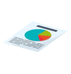 financial report document vector image