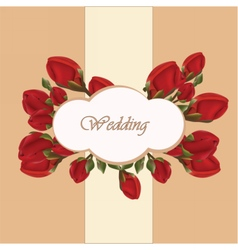 Geranium flower wedding invitation vector image vector image