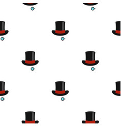 Hat with monocle pattern flat vector