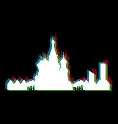 Isolated moscow cityscape vector