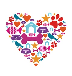 Love for pets vector