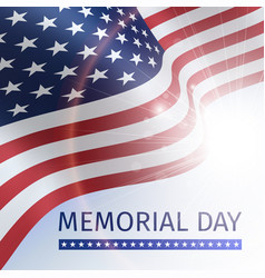 memorial day poster with the flag of the usa vector image vector image