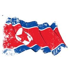 North korea flag grunge vector