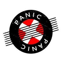 Panic rubber stamp vector