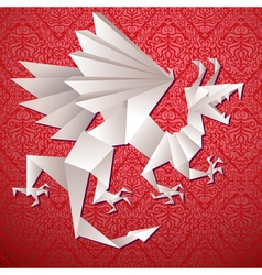 paper dragon origami vector image vector image