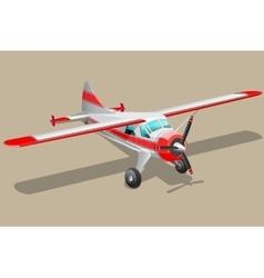 Retro airplane vector image vector image