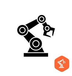 Robotic hand manipulator black silhouette symbol vector