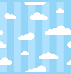 seamless square pattern with clouds and lines vector image vector image