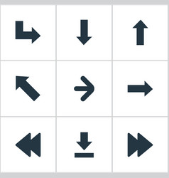 set of 9 simple cursor icons can be found such vector image