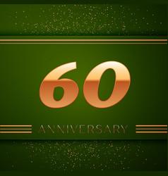 Sixty years anniversary celebration logotype vector