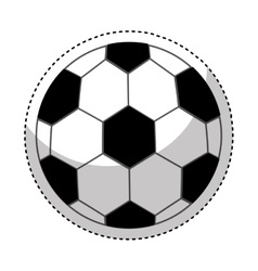 Soccer balloon isolated icon vector