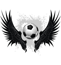 soccer wings vector image vector image