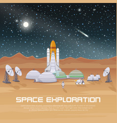 space exploration flat composition vector image vector image