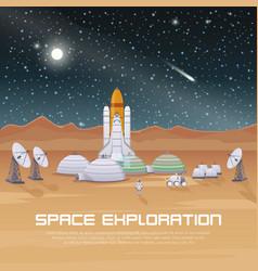 Space exploration flat composition vector