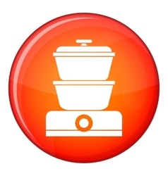 Steamer icon flat style vector