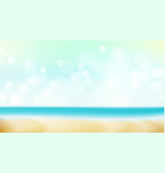 Summer beach background blur sea coast vector