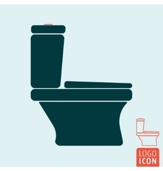 Toilet bowl icon isolated vector