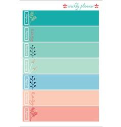Weekly planner pastel color sweet vector
