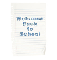 welcome back to school concept vector image vector image