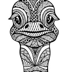 Zentangle stylized ostrich vector