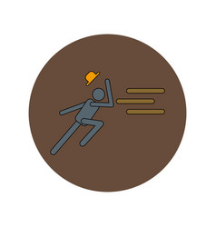 In flat design of man running vector