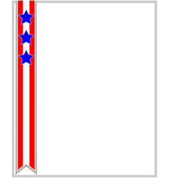 Usa flag ribbon patriotic frame vector