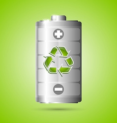 Recycled energy icon vector image