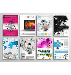 Set of flyer design infographics layout brochure vector