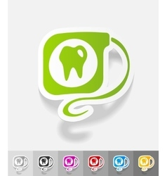 Realistic design element dental floss vector