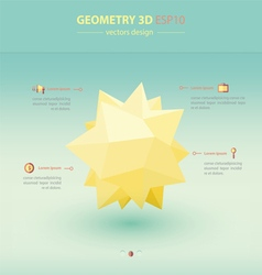 Geometry Abstract 3D Infographic vector image