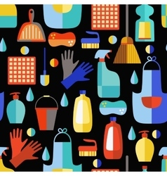 Cleaning products seamless pattern vector