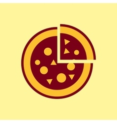 Fast food icon pizza pictogram vector