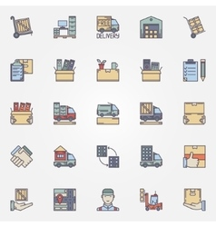 Moving colorful icons set vector image