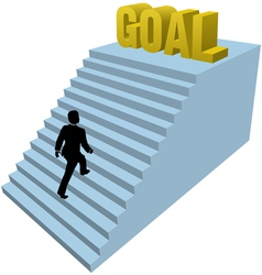Business goal vector image